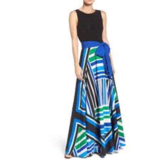 43a9970795580 Eliza J Scarf Print Maxi Dress NWT